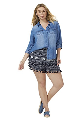 Lane Bryant Women's Short with Tassles 18/20 New Navy from Lane Bryant