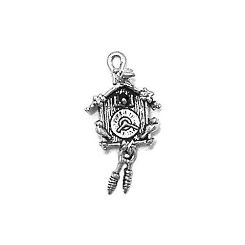 Cuckoo Clock Charm - Sterling Silver 3D Moveable Cuckoo Clock Charm Item #082