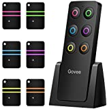 Key Finder, Govee Wireless RF Item Locator Item Tracker with Remote, 1 RF Transmitter and 6 Receivers for Car Keys Pets Purse - Wireless Key RF Locator, Pet Tracker Wallet Tracker, Keychains Included