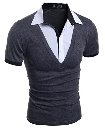 Dianco Mens Polo Shirt Brands New Male Short Sleeve Fashion Casual Slim Fake Two Button Polos Men Jerseys 2Xl Sh - Brand Fake Polo