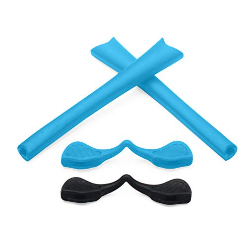 Replacement Earsocks & Nosepieces Rubber Kits for Oakley Radar Path Sunglasses(Sky Blue, 0) (Radar Path Oakley)