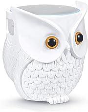 Owl Echo Dot Holder Stand, Owl Statue Smart Speaker Holder Stand for Echo Dot 4th/3rd Generation, Cartoon Decor Owl Shape Home Decor