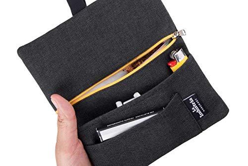 Tabaktasche Tabakbeutel 'Vulcano' – Drehertasche mit Fächern für Filter, Blättchen und Feuerzeug