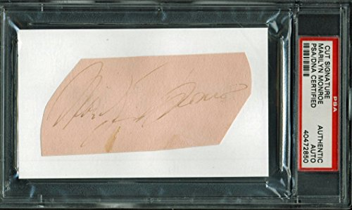 Marilyn Monroe Authentic Signed 2×4.25 Cut Signature Autographed PSA/DNA Slabbed
