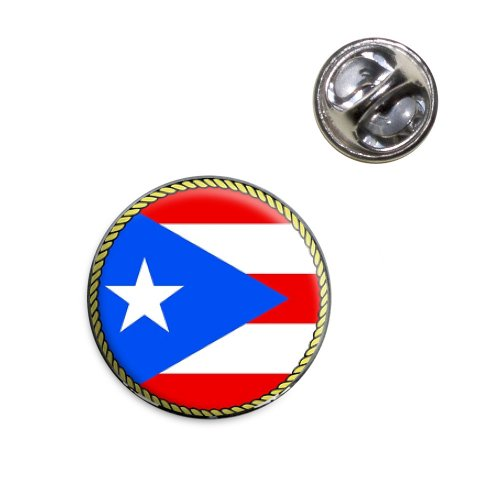 Flag of Puerto Rico Lapel Hat Tie Pin Tack ()