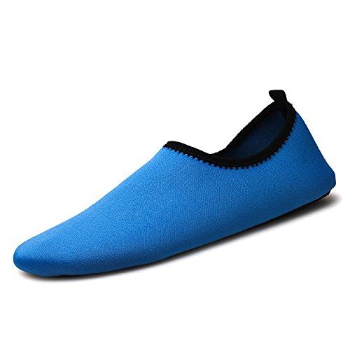 en cuidado deportivos piel zapatos Lucdespo el Natación antideslizante Sk7 la la descalzo playa de los aire libre cintas azul de al calzado correr zapatos buceo aRa6qP