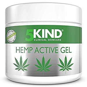 Hemp Joint & Muscle Active Relief Gel- High Strength Hemp Oil Formula Rich in Natural Extracts by 5kind. Soothe Feet…