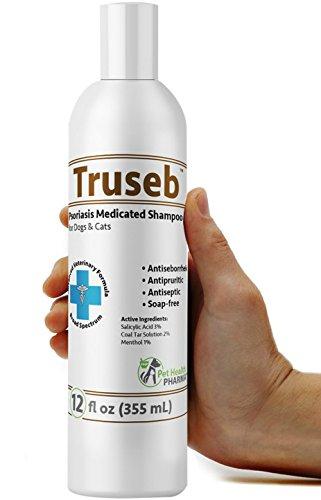 Truseb | #1 Psoriasis 3% Salicylic Acid, 2% Coal Tar, 1% Menthol Medicated Shampoo and Conditioner - a Psoriasis, Seborrheicm, Dermatitis and Dandruff Treatment Made In USA Advanced Vet Formula