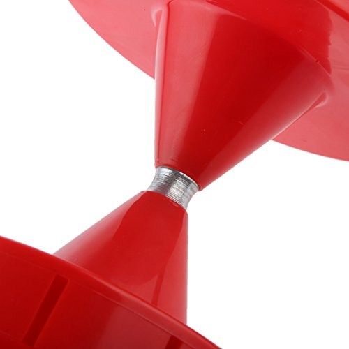 【ノーブランド 品】レッド ホイッスル 小さい ブロック形 ディアボロ ジャグリング 中国 ゴマ スピニング おもちゃ 贈り物