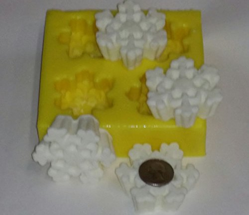 4 Snowflakes Soap & Candle Mold