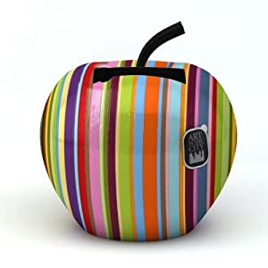 Charge 'N' Fruits - Base de carga en forma de manzana para móviles y reproductores MP3, varios, colores a rayas