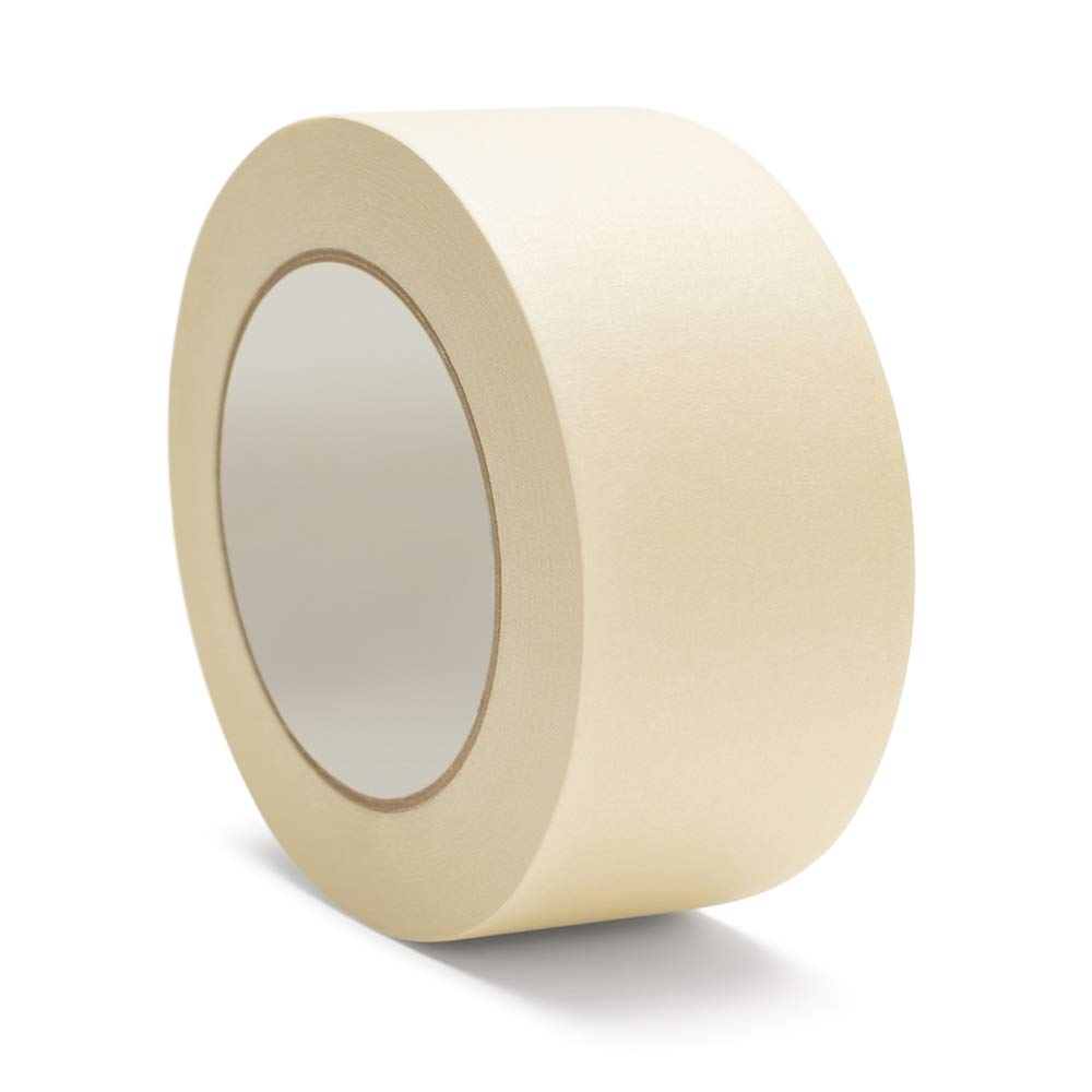Masking Tape, Utility Grade Heavy Duty Tape, 2 Inch x 60 Yards, Ivory, 24 Pack