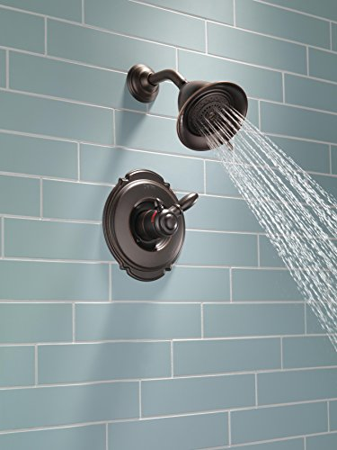 Delta T17255-RB Victorian 17 Series Dual-Function Shower Trim Kit with 2-Spray Touch Clean Shower Head, Venetian Bronze (Valve Not Included)