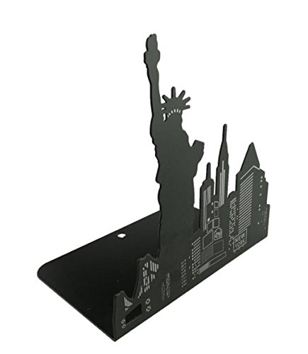 Winterworm One Pair Fashion Modern European American Architecture Landmark Theme Style Thickening Iron Library School Metal Bookends Book End Perfect Mother's Day Gift (New York Statue Of Liberty) Photo #5