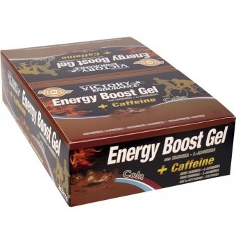 Caja 24 x 42g Energy Boost Gel + Cafeína Cola Victory Endurance