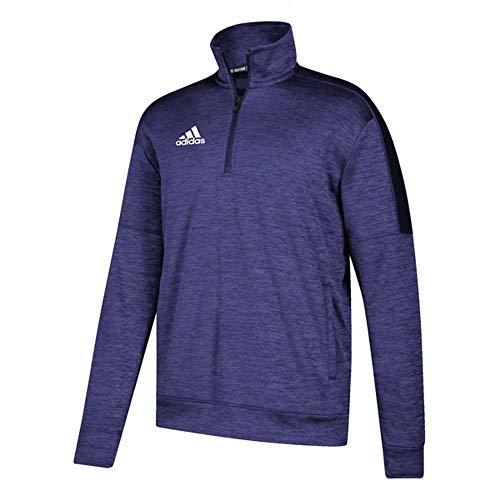 adidas Athletics Team Issue 1/4 Zip Long Sleeve, Collegiate Purple Melange/White, X-Large