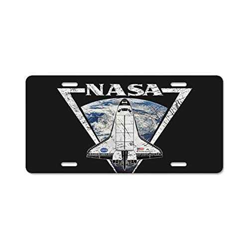 YEX Abstract License Plate NASA Edeavour Triangular Insignia High Gloss Aluminum Novelty Car Licence Plate Covers Auto Tag Holder 12