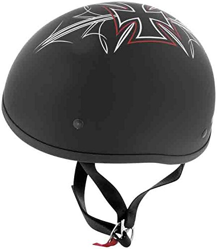 Skid Lid Helmets Original Street Rod Helmet , Size: XL, Primary Color: Black, Distinct Name: Flat Black Street Rod, Helmet Category: Street, Helmet Type: Half Helmets, Gender: Mens/Unisex XF64-6704