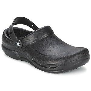 Crocs Men's & Women's Bistro Clog Slip Resistant Work Shoe, Great Nursing or Chef Shoe