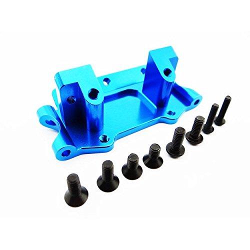Hot Racing TE1008 Blue Aluminum Front Bulkhead Set Ru St ()