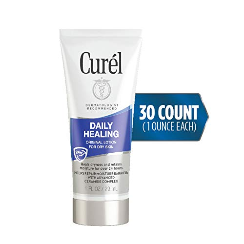 Curél Skincare Daily Healing Dry Skin Moisturizer, 1 Ounce Travel Lotion, 30-pack, with Advanced Ceramide Complex, helps to Repair Moisture Barrier 4