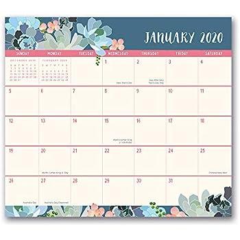 December 2014 January 2020 Calendar Amazon.: Orange Circle Studio 2020 Magnetic Monthly Calendar