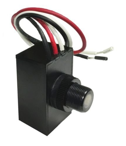 Multi-Volt 120-277V Outdoor Dusk to Dawn Photocell, Button Eye Light Sensor, ...