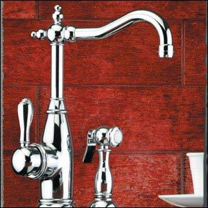 Mico 7753-SN Satin Nickel Simone Single Handle Kitchen Faucet with Side Spray