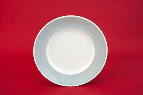 5 Grey Modernist Susie Cooper Polka Dot Old PLATES Vintage Bone China Bold Design Table Cake Meat English 1970s LS