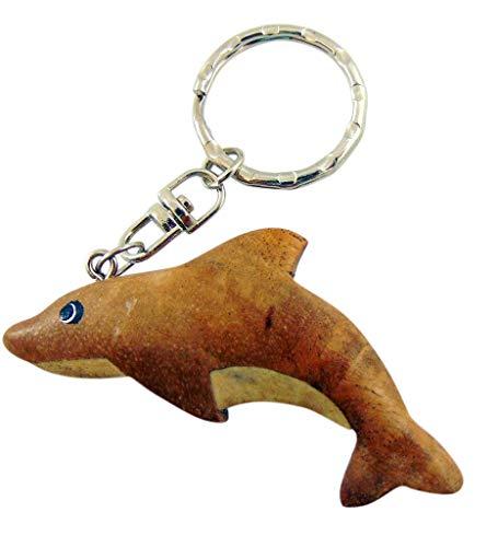 Westman Works Dolphin Keychain Handmade Wooden Key Ring Nautical - Keychain Wooden Handmade