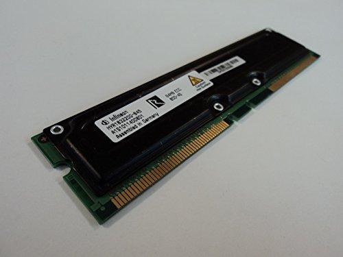 - Infineon RAM Memory Module 64MB PC800-45 RDRAM RIMM ECC 184-Pin HYR183220G-845