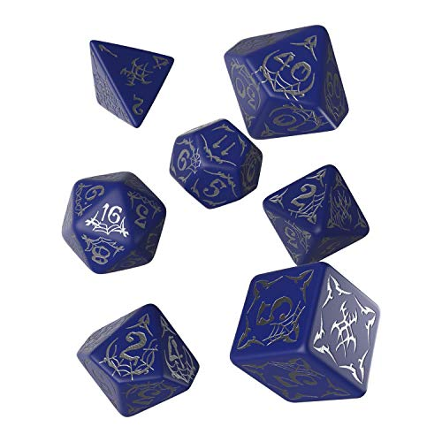 - Q WORKSHOP Pathfinder Second Darkness Rpg Ornamented Dice Set 7 Polyhedral Pieces