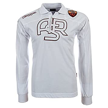 Kappa - Polo de manga larga, diseño del AS Roma blanco blanco ...