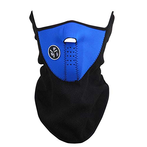 Pawaca Unisex Anti Cold Fleece Ski Mask - Face Mask Cycling Winter Neck Warmer - Windproof Half Face Mask Snowboard Snowmobile Sports Mask for Motorcycles, Bicycle, Skiing, Running, Mountain Climbing ()
