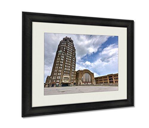 Ashley Framed Prints, Buffalo Central Terminal New York, Wall Art Decor Giclee Photo Print In Black Wood Frame, Ready to hang, 20x25 Art, AG5579593 (Central Terminal Buffalo)