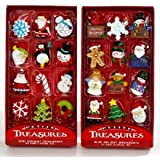 Kurt Adler Petite Treasures 12-Piece Miniature Ornaments Set 2 Pack