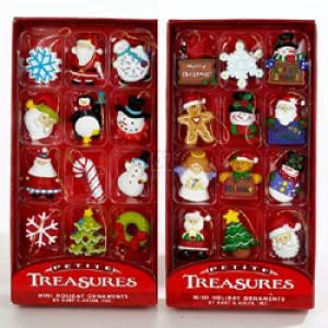 Kurt Adler Petite Treasures 12Piece Miniature Ornaments Set 2 Pack