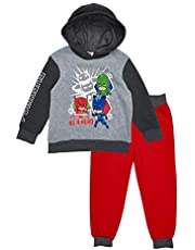 PJ Masks Time to Be A Hero Fleece Hoodie Jogger Set (Red/Grey/Black, 4T)
