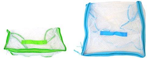 EWONDERWORLD Toy Organizers Environmentally Friendly Portable Storage Mesh Bags (2 Pack)