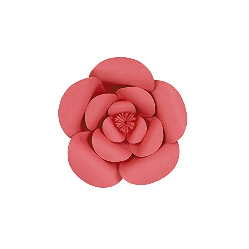 "Mega Crafts 8"" Handmade Paper Flower in Coral 