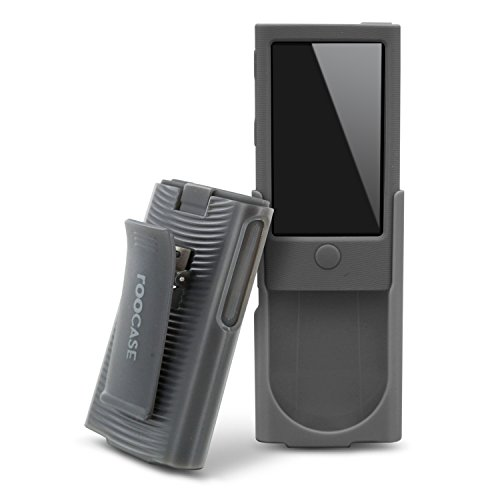 rooCASE Hybrid Silicone Case with Detachable Holster Clip for iPod Nano 7 (Slate)