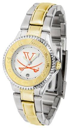 Virginia Cavaliers Competitor Ladies Watch with Two-Tone Band (Watch Virginia Competitor)