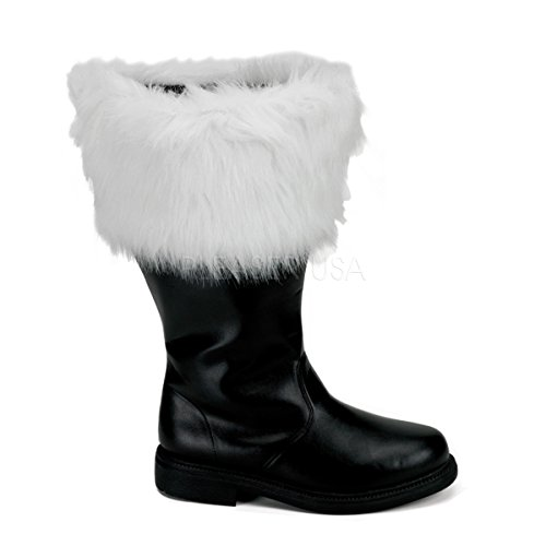 Funtasma Men's Santa, Black/What Faux Fur, Small/8-9 M US