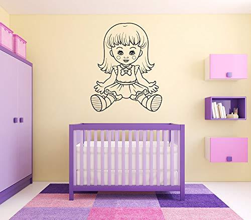 Vinyl Sticker Doll Toy Barbie Stuffed Animal Teddy Bear Kids Room Boy Girl Baby Nursery Mural Decal Wall Art Decor SA2879
