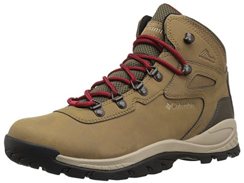 Columbia Women's Newton Ridge Plus Hiking Boot, Delta/Red Velvet, 5 Regular US