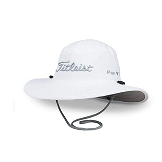 1016596595a Amazon.com   Titleist Golf 2019 Tour Aussie Full Brim Sun Bucket Hat Cap  (White Grey)   Sports   Outdoors