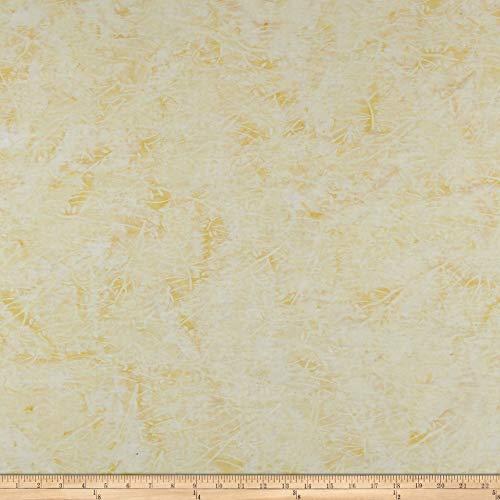 Timeless Treasures Tonga Batik Wallflowers 4 & 5 Branches Fabric, Natural, Fabric By The Yard