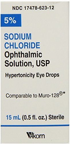 Sodium Chloride Ophthalmic Drops, 5%, 15mL, Pack of 3 ()