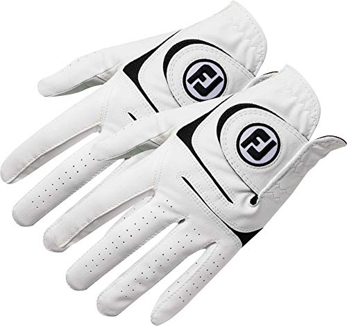 FootJoy New 2017 WeatherSof Mens Golf Gloves 2 Pack Cadet Medium, Worn on Left Hand