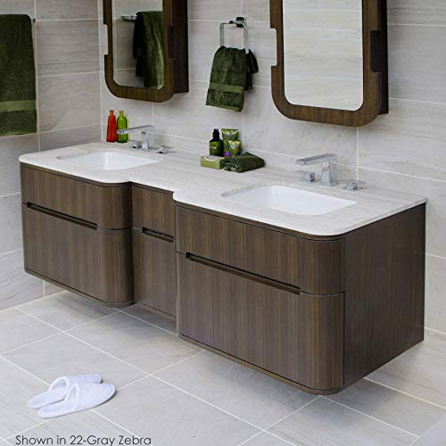 Wall mount under-counter double vanity with four finger routed drawers. H27 LEG, H275T countertop and H270 Bathroom Sink are sold separately. W: 59 1/2